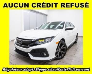 Used 2017 Honda Civic SPORT HONDA SENSING SIÈGES CHAUFF *RÉGULAT ADAPT* for sale in St-Jérôme, QC