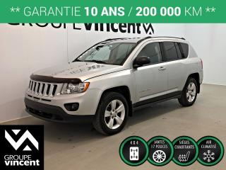 Used 2012 Jeep Compass NORTH 4X4 ** GARANTIE 10 ANS ** Parfait pour nos hivers! for sale in Shawinigan, QC