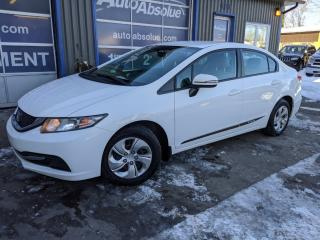 Used 2015 Honda Civic Lx  + caméra + bluetooth for sale in Boisbriand, QC