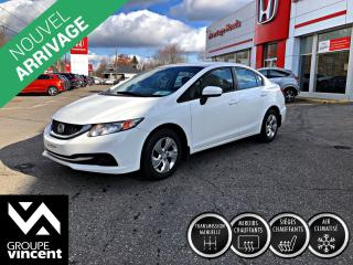 Used 2014 Honda Civic LX ** GARANTIE 10 ANS ** Amusante à conduire! for sale in Shawinigan, QC
