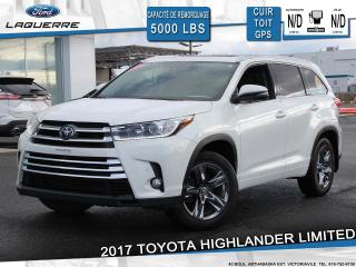 Used 2017 Toyota Highlander LIMITED**AWD*CUIR*TOIT*GPS*CAMERA*A/C** for sale in Victoriaville, QC