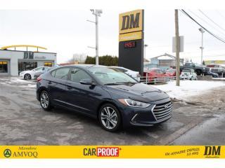 Used 2017 Hyundai Elantra GLS TOIT **GARANTIE PROLONGÉ ** DÉT.ANGLES MORTS for sale in Salaberry-de-Valleyfield, QC