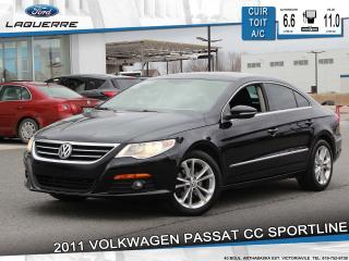 Used 2011 Volkswagen Passat SPORTLINE**CUIR*TOIT*BLUETOOTH*A/C** for sale in Victoriaville, QC