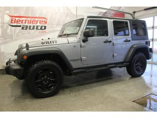 Used 2015 Jeep Wrangler Unlimited Willys 2 toits for sale in Lévis, QC