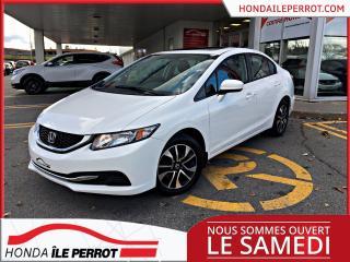 Used 2014 Honda Civic EX, JAMAIS ACCIDENTÉ UN SEUL PROPRIETAIRE , IMPECCABLE for sale in Île-Perrot, QC