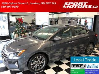 Used 2019 Hyundai Elantra Ultimate+Roof+GPS+ApplePlay+AdaptiveCruise+Leather for sale in London, ON