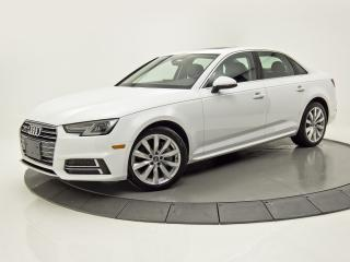 Used 2018 Audi A4 AWD KOMFORT SIÈGES CHAUFFANTS BLUETOOTH CRUISE for sale in Brossard, QC