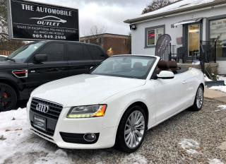 Used 2010 Audi A5 Premium Plus CONVERTIBLE NAVI BACK-UP CAM LEATHER for sale in Mississauga, ON
