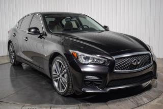 Used 2015 Infiniti Q50 S AWD CUIR TOIT NAV MAGS for sale in St-Hubert, QC
