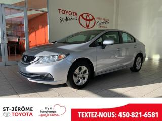 Used 2014 Honda Civic * LX * AIR * VITRES / PORTES ÉLEC * for sale in Mirabel, QC