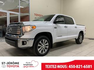 Used 2016 Toyota Tundra * LIMITED * CREW MAX * 5.7 L * 4X4 * CUIR * for sale in Mirabel, QC