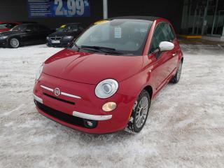 Used 2015 Fiat 500 C Lounge, MAGS, A/C, CRUISE, BLUETOOTH, BANC CHAUFFA for sale in Mirabel, QC
