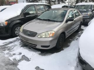 Used 2003 Toyota Corolla SHIPPERS SPECIAL,$2200,AUTO, for sale in Toronto, ON