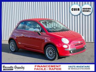 Used 2015 Fiat 500 C Lounge-Cuir-Sièges chauffants-8Pneus for sale in Cowansville, QC