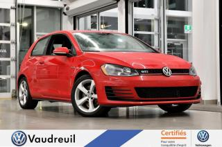 Used 2016 Volkswagen Golf GTI Golf GTI 2.0T * 17 PO * APP-CONNECT for sale in Vaudreuil-Dorion, QC