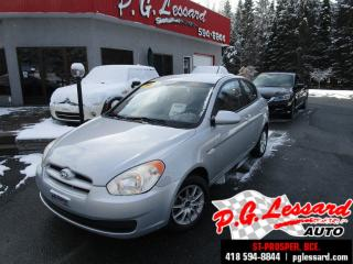 Used 2008 Hyundai Accent Gl 2 portes a/c vitre et portes electrique for sale in St-Prosper, QC