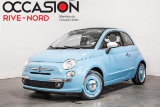 Used 2015 Fiat 500 C Lounge Edition 1957 CUIR+MAGS+BLUETOOTH for sale in Boisbriand, QC