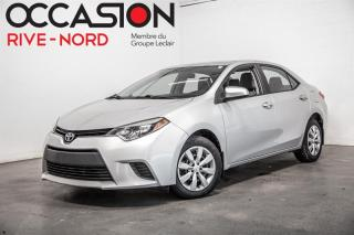 Used 2014 Toyota Corolla LE MAGS+A/C+GR.ELECTRIQUE for sale in Boisbriand, QC