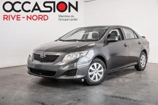 Used 2010 Toyota Corolla CE-Manuelle- GARANTIE 1 AN for sale in Boisbriand, QC