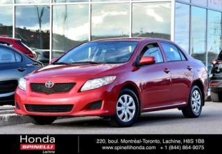 Used 2010 Toyota Corolla CE B PACKAGE AUTO TEL QUEL AUTO AC PORTES ELECTRIQUES for sale in Lachine, QC