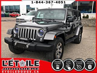Used 2018 Jeep Wrangler UNLIMITED SAHARA, DEMARREUR A DISTANCE, for sale in Jonquière, QC