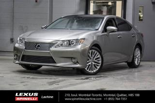 Used 2015 Lexus ES 350 EXECUTIVE; CUIR TOIT PANO GPS AUDIO LSS+ NAVIGATION - TOIT PANORAMIQUE - MONITEUR ANGLES MORT - AUDIO MARK LEVINSON - PRÉ-COLLISION for sale in Lachine, QC