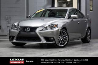 Used 2015 Lexus IS 250 LUXURY AWD; CUIR TOIT CAMERA ANGLES MORT BAS KILO BAS KILOMÉTRAGE - NAVIGATION - VOLANT CHAUFFANT - MONITEUR ANGLES MORTS - SIÈGES CHAUFFANT / VENTILÉ for sale in Lachine, QC