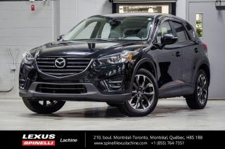Used 2016 Mazda CX-5 GT AWD; CUIR TOIT GPS AUDIO MAGS 19'' NAVIGATION - INTÉRIEUR CUIR - TOIT-OUVRANT - SIÈGES CHAUFFANT - AUDIO PREMIUM BOSE - JANTES 19'' GT for sale in Lachine, QC