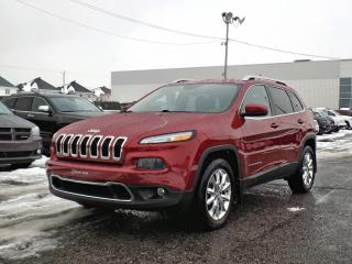 Used 2015 Jeep Cherokee LIMITED 4X4 *V6*CUIR*GPS* for sale in Brossard, QC