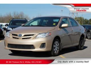 Used 2013 Toyota Corolla CE (A4) for sale in Whitby, ON