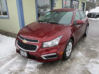 Used 2015 Chevrolet Cruze LIKE NEW LT EDITION 5 PASSENGER 1.4L - TURBO.. CD/AUX/USB INPUT.. BACK-UP CAMERA.. BLUETOOTH SYSTEM.. KEYLESS ENTRY.. for sale in Bradford, ON