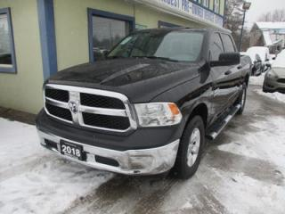 Used 2018 Dodge Ram 1500 LIKE NEW TRADESMEN EDITION 6 PASSENGER 5.7L - HEMI.. 4X4.. CREW.. SHORTY.. FACTORY WARRANTY.. AUX/USB INPUT.. KEYLESS ENTRY.. for sale in Bradford, ON