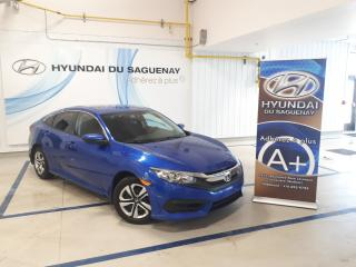 Used 2016 Honda Civic LX/GARANTIE CAMERA RECUL for sale in Jonquière, QC