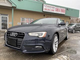 Used 2014 Audi A5 2.0 Progressiv BROWN LEATHER||NAVIGATION||CERTIFIED!! for sale in Bolton, ON