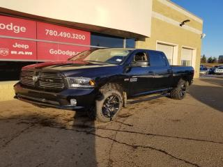 Used 2016 RAM 1500 Sport 4x4 Crew Cab / Sunroof / GPS Navigation for sale in Edmonton, AB