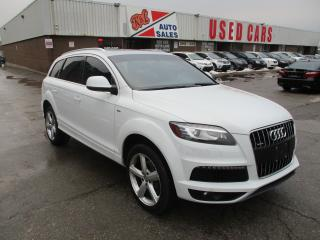 Used 2013 Audi Q7 3.0L TDI Premium S-LINE~7 PASS.~NAV.~BSM~CERTIFIED for sale in Toronto, ON