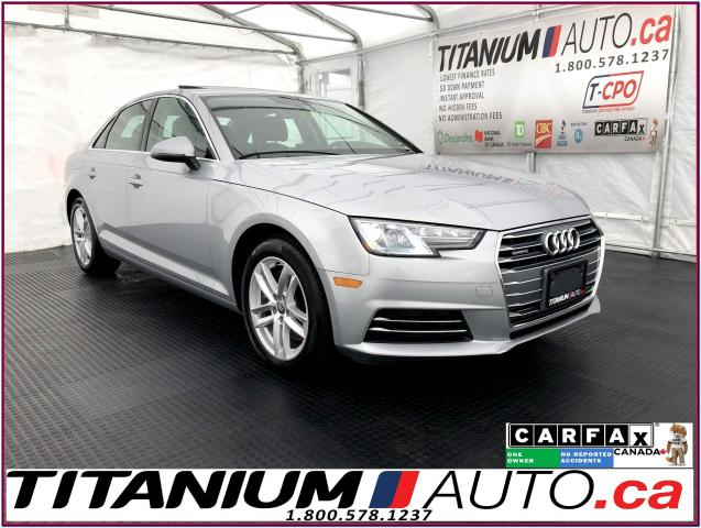2017 Audi A4 Quattro+Apple Play+Back Up Sensors+Heated Steering
