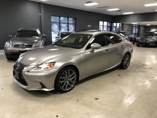 Used 2016 Lexus IS 300 F-SPORT*LEVEL 2*RED INTERIOR*ONE OWNER for sale in North York, ON