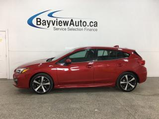 Used 2018 Subaru Impreza Sport-tech - AWD! HTD LEATHER! NAV! SUNROOF! ADAPTIVE CRUISE! + MUCH MORE! for sale in Belleville, ON