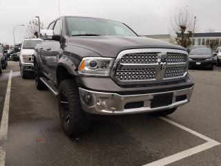 Used 2017 RAM 1500 Laramie TIRE AND WHEEL PACKAGE / FLARES / LIFT 4 / TONNEAU COVER - SOFT for sale in Surrey, BC