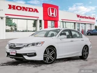 Used 2016 Honda Accord Sport One Owner Certified Accord with Powertrain Warranty Until 160,000km! for sale in Waterloo, ON