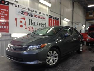 Used 2012 Honda Civic CIVIC LX AUTOMATIQUE CLIMATISEUR SUPER PROPRE ! for sale in Blainville, QC