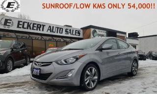 Used 2015 Hyundai Elantra GLS SUNROOF/LOW KMS ONLY 54,100!! for sale in Barrie, ON
