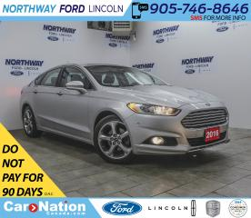 Used 2016 Ford Fusion SE | LEATHER | BACKUP CAM | TECH PKG | LUXURY PKG for sale in Brantford, ON