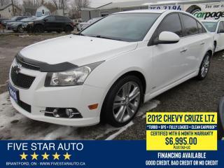 Used 2012 Chevrolet Cruze LTZ Turbo *Clean Carproof* Certified w/ Warranty for sale in Brantford, ON