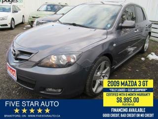 Used 2009 Mazda MAZDA3 GT *Clean Carproof* Certified w/ 6 Month Warranty for sale in Brantford, ON
