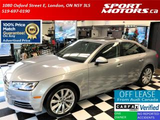 Used 2017 Audi A4 TFSI Quattro+Apple Play+Heated Steering+Roof+Senso for sale in London, ON