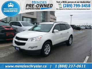 Used 2012 Chevrolet Traverse 2LT AWD, Leather, Cam, 7 Pass, Clean Carfax for sale in Whitby, ON