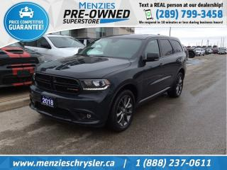 Used 2018 Dodge Durango GT AWD, Sunroof, Cam, Leather, Bluetooth for sale in Whitby, ON
