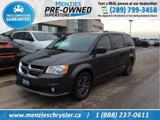 Used 2016 Dodge Grand Caravan SXT Premium Plus, Navi, DVD, Leather, Cam for sale in Whitby, ON